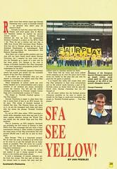 Scotland vs Romania - 1990 - Page 25 (The Sky Strikers) Tags: scotland romania rumania european championship qualifying match hampden park glasgow official souvenir matchday magazine two pounds