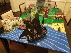 The Black Pearl visits port (adam_beck_bell) Tags: lego afol pirates castle