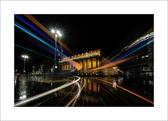 Bordeaux, grand théatre (ekkiPics) Tags: bordeaux theatre opera architecture nightshot lighttrails longexposure reflection rain traffic tram