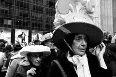 """Easter Parade And Easter Bonnet Festival."" (B.C. Lorio) Tags: easterparade easterbonnet easter fifthavenue manhattan newyorkcity midtown blackandwhite monochrome fujifilm fujifilmxus xphotographer xseries xe2s xf23mmf2rwr"