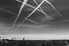 Untitled (AndreArma) Tags: sky crossing aircraft stripes blackandwhite monochrome city leica m9 160 nokton voigtlander 50mm 15