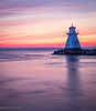 Day's End (maureen.elliott) Tags: lighthouse water colours sunset skies daysend evening reflected lakehuron southampton structure architecture building rangelight