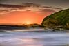 Full Moon Rising (Dusty Dog Imaging) Tags: moon moonrise tide ocean sea beach rocks cliff night australia aussie nsw newsouthwales visitnsw onemilebeachforster