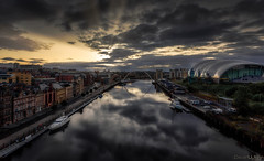 Sunrise on the tyne (peterwilson71) Tags: newcastle cityscape arcitecture arch bridge buildings boat canon6d clouds city daybreak downtown exposure reflections flow harbour house horizon skys longexposure landscape lights light northeast ocean river sunrise