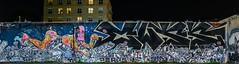 xwxs (pbo31) Tags: bayarea eastbay alamedacounty nikon d810 color night dark black april 2018 spring boury pbo31 oakland downtown city urban art graffiti wall mural giant panoramic large stitched panorama oaksterdam
