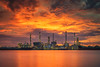 Oil refinery plant and prtroleum industry with morning sunrise (anekphoto) Tags: refinery oil industry plant gas night petrochemical chemical petroleum factory engineering chemistry metal industrial technology energy power environment tower production pipeline smoke pollution steam chimney construction sky storage tank color twilight worker light sunset pipe manufacturing diesel distillation protection stack heavy auto fuel supply engineer smokestack gasoline petrol pollute distillery