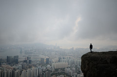 (airfeelcolorswim) Tags: me hongkong kowloonpeak kowloon skyline city cityscape clouds suicidecliff buildings