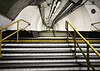Way out (Joseph Pearson Images) Tags: underground subway tube metro steps stairs rail handrail london bank vanishingpoint