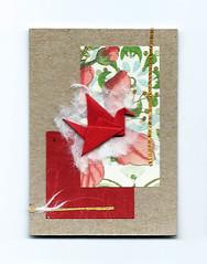 origami-crane-13 - Copie (julie_savard) Tags: aceo origami atc orijuju juliesavard paperart miniature pocketart papercraft paperartist artisttradingcards japaneseart traditionnalart