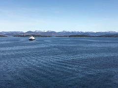 My office view :-) (Pål Leiren) Tags: ferry stavanger fjord april 2018 april2018 officeview office view sea ocean sky mountain spring clouds