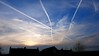 Highways in the heavens (Keith Coldron) Tags: sky blue condensation trails sunsetting clouds