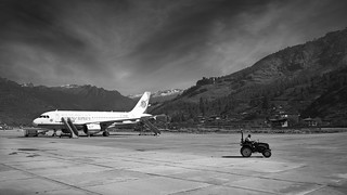 Into Bhutan: Arriving at Paro Airport.