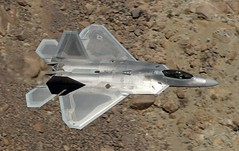 SURREAL MOMENT (Dafydd RJ Phillips) Tags: f22 raptor fifth generation usaf force united states air stealth low level death valley jedi transition star wars canyon california edwards afb base aviation military