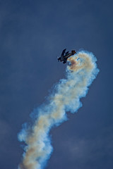 Defying Physics (Toffographer 974) Tags: aerobatics aircraft airplanes airshow aviation california flight pilot sky smokes spring