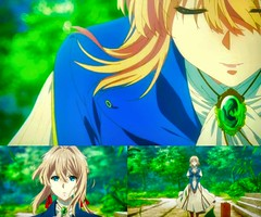 Violet Evergarden anime collage 14 Violet introducing herself by Anne MacKay (Anne MacKay images of interest & wonder) Tags: violet evergarden anime collage 14 introducing herself by anne mackay