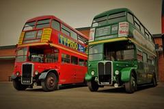 RTL139 & RT4779 (stavioni) Tags: rt4779 rt 4779 rtl 139 rtl139 leyland 7rt weymann aec regent iii park royal double decker bus brooklands red green kgk803 old566 london transport
