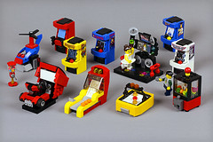 Arcade machines (Frost Bricks) Tags: lego arcade machine moc mocs skeeball claw air hockey gumball dance classic outrun creation