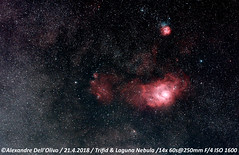 Trifid & Laguna (achrntatrps) Tags: nébuleusedulagon lagoonnebula m8 sh225 rcw146 nébuleusetrifide trifidnebula m20 ngc6514 sh230 rcw146nightshotd5300nikonphotographephotographeralexandre dellolivodellolivola chauxdefondssuissenuitnightnachtachrntatrpsachrntatrpsradon200226radonetoilesstarssterneestrellasstelleastronomieastronomynichtnochenottenikkor afs 200400mm f4suiviastrophotographieeos for astroastrotrac 320xh ii regionh alpha astrometrydotnet:id=nova2533208 astrometrydotnet:status=solved