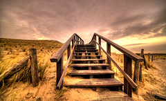 Stairway to the heavens above. (Alex-de-Haas) Tags: 11mm adobe d850 dutch hdr holland irix lightroom nederland nederlands netherlands nikon noordholland noordzee northsea petten pettenaanzee photomatix photomatixpro beach beachscape exposure hemel landscape landschap longexposure lucht sand sea skies sky stairs stairway strand sundown sunset trap wind winter zand zee zonsondergang