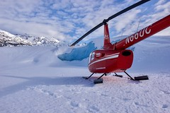 Landing in The Middle of a Frozen Land (Dhari .K ALFawzan) Tags: ngc alaska wilderness photography landscape canon clouds mountain sky ice nature backcountry explore outdoor snowfall blue frozen cold snow glacier helicopter