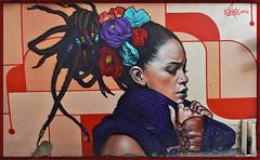 Alex (HBA_JIJO) Tags: streetart urban graffiti art france 3hc hbajijo wall mur painting alex aerosol peinture portrait paris93 spray woman urbain figuratif akhine rastafari