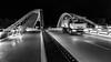 Pont modern (Ramon InMar) Tags: nit night bw blanc negre camió van pont bridge modern