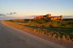 Sunset over Bamburgh Beach and Castle (iancowe) Tags: bamburgh castle bamburghcastle beach sunset northumbria northumberland england english evening summer north sea drone dji phantom 4 pro aerial