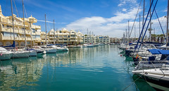 (roddy780) Tags: holiday belamadina spain rx1003 sony sea sun boat view marina blue yellow solour reflection salmon jump hotel restaurant sail rx 100 mk3