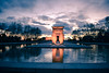 Taste of Madrid IV (Temple of Debod) (Renée Kim) Tags: architecture cloudy clouds art temple madrid 1855mm nikonista nikon nikond3300 sunset park reflect water photography photo photographer
