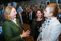 Karin Kneissl trifft die Präsidentin der Jüdischen Gemeinde in Skopje, Berta ROMANO-NIKOLIKJ