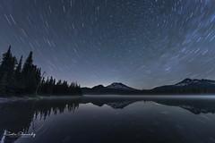 Star Trails over Sparks Lake. (Mt Bachelor Area, Central Oregon). (Sveta Imnadze) Tags: nightsky startrails oregon centraloregon