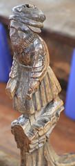 Carved man (jpotto) Tags: uk suffolk blythburgh church religion pew carving wood poppyhead