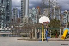 Jump Shot Jimmy (Clayton Perry Photoworks) Tags: vancouver bc canada spring explorebc explorecanada skyline basketball boy kid people