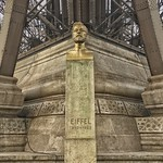 Paris  France - Bust of Gustave Eiffel at the Base of The Eiffel Tower thumbnail