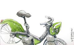 Les nouveaux Velib's , Paris (velt.mathieu) Tags: paris vélo bike sketch dessin urbansketchers velib