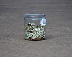 Tips (Scott 97006) Tags: money jar tips coins
