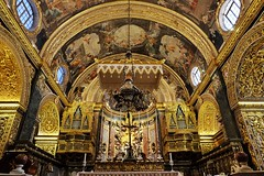 St John's Co-Cathedral (Douguerreotype) Tags: cathedral arch church symmetry city gold malta architecture valletta art