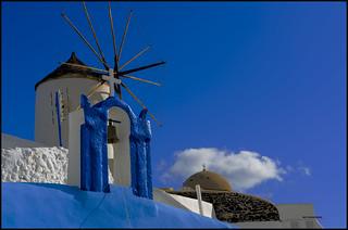 Azul, molinos y cruces