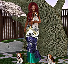 I've got a thing for puppies... (Madame Mahogany) Tags: secondlife puppies jian fiftylindenfriday hh