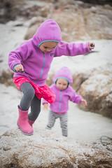 Rock Climbing ({ chisomo }) Tags: monterey beach asilomar kids playing windy cloudy california toddler