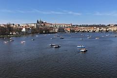 prague on boats (t.horak) Tags: prague medieval castle cathedral bridge charles town city capital bohemia czech river vltava boats historical marvelous
