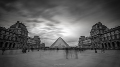 Louvre (glank27) Tags: louvre museum paris karl glanville canon eos 5d mkiv ef 1635mm f4l long exposure blackwhite movement blur sky square 169 city landmark historic