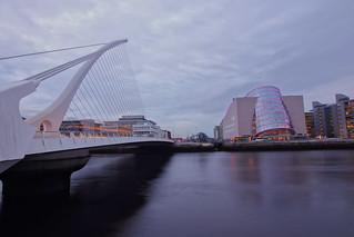 Samuel Beckett Bridge and Dublin Convention Centre
