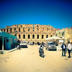 Looking at El Jem