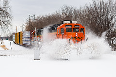 The Smashing Monti (shawn_christie1970) Tags: robbinsdale minnesota unitedstates us winter train railroad bnsfmonticellosub montilocal bnsf2894 gp39m emd snowbankbusting smashing spring ltw1845 griswold signals
