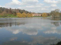 View across the lake (bryanilona) Tags: himleyhall himleylake himleyestate himleypark clouds trees reflections yachts fishermen