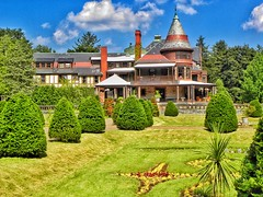 Sonnenberg Gardens & Mansion ~ Historic Park ~ Canandaigua NY (Onasill ~ Bill Badzo - 56 Million Views - Thank Yo) Tags: sonnenberg gardens mansion historic park canandaigua ny ontario county onasill nrhp queen anne architecture historical building finger lakes outdoor photo border interior fireplace moose victorian style house turrets sky clouds 73001240 garden country tours