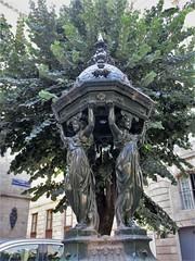 Wallace Fountain with caryatids, Place Georges de Porto-Riche, Bordeaux, France (Paul McClure DC) Tags: bordeaux france gironde nouvelleaquitaine july2017 historic architecture sculpture