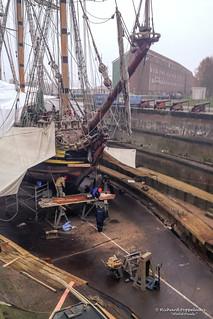 Russian Fregate Shtandart (Est. 1999) at Drydock Jan Blanken - H