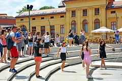 You have to jump in the fountain ! (misi212) Tags: new pharmacist jump fountain university szeged faculty pharmacy
